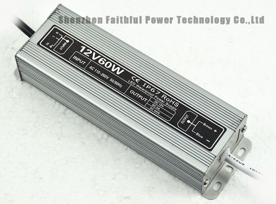Constant Voltage DC12V 24V 60W Waterproof LED Light Power Supply IP67 5A 2.5A 60 W SMPS
