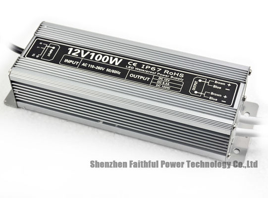 IP67 Rated 12V 24V Dc 100W Outdoor LED Light Power Supply to Convert from High Volt to Low Volt