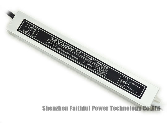 China Waterproof LED strip Driver 3.3A 12V 40 Watt Waterproof LED Power Supply 40W 12VDC factory
