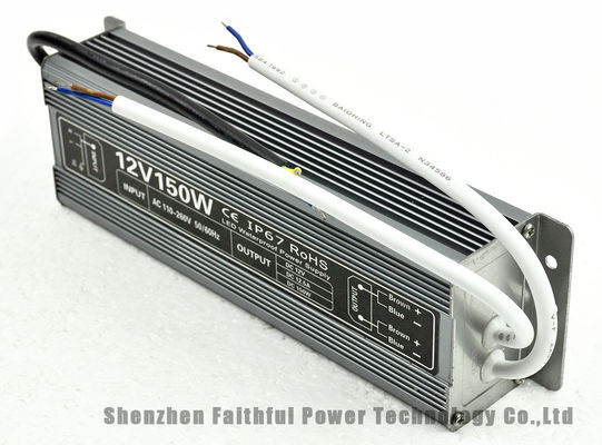 150W 100V - 264V AC 12V DC 12.5A Waterproof AC DC Switching Power Supply