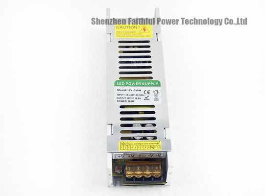 China 150 Watts 12.5A 6.25A IP20 LED Slim SMPS Power Supply 150W 12VDC 24VDC factory